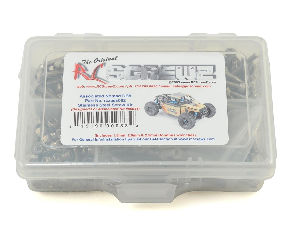 RC Screwz Team Associated Nomad DB8 Stainless Steel Screw Kit | relatedproducts
