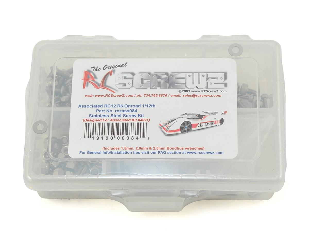 RC Screwz Associated RC12R6 Stainless Steel Screw Kit