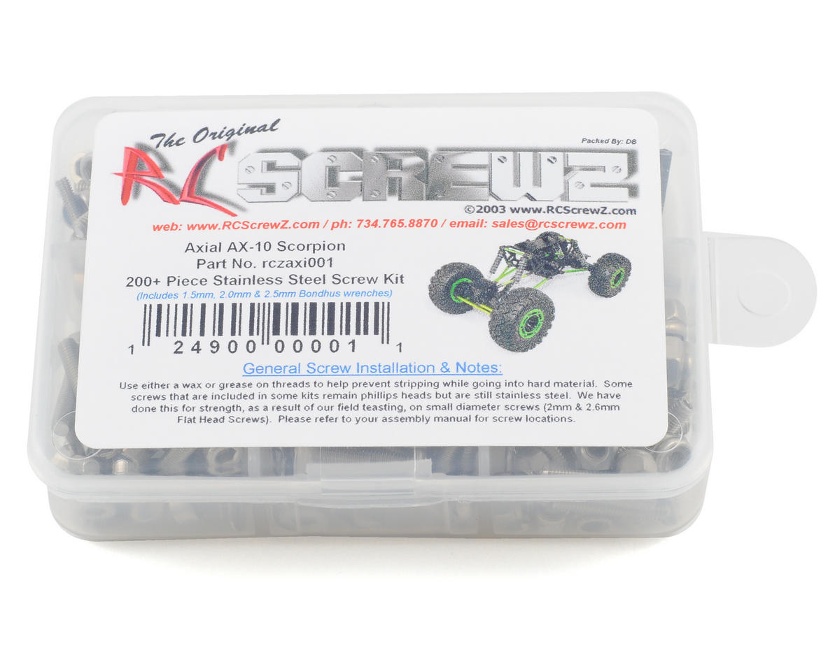 RC Screwz Axial Scorpion Stainless Steel Screw Kit