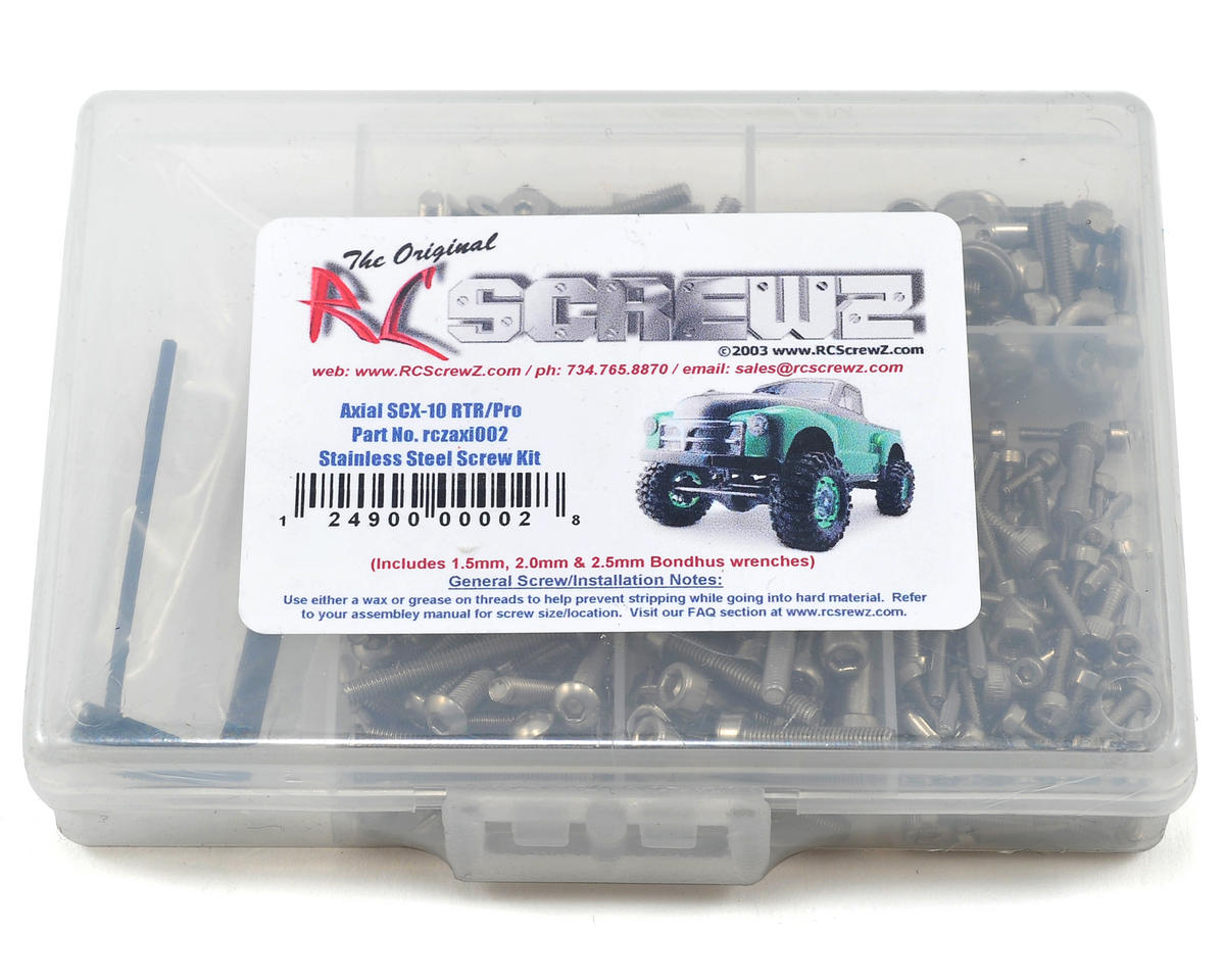 RC Screwz Axial SCX10 Stainless Steel Screw Kit
