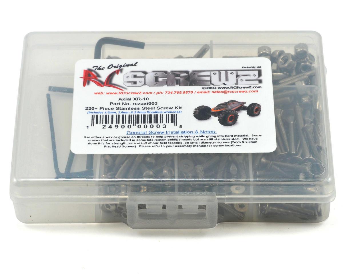 RC Screwz Axial Racing XR10 Stainless Steel Screw Kit