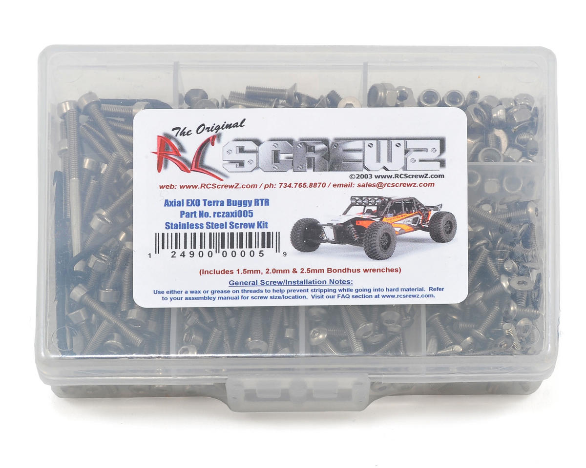 RC Screwz Axial EXO Terra Buggy RTR Stainless Steel Screw Kit