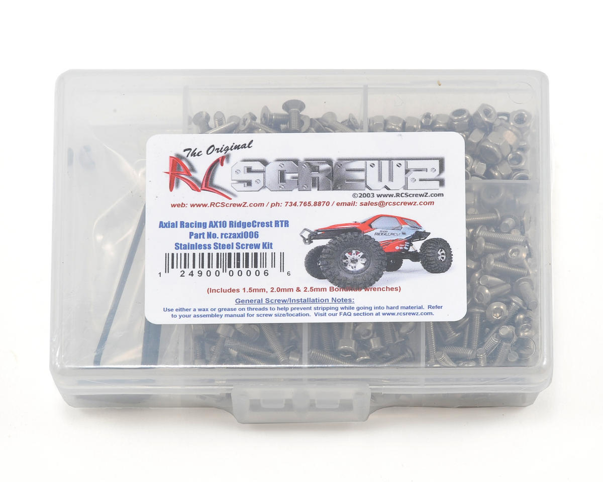 RC Screwz Axial AX10 RidgeCrest RTR Stainless Steel Screw Kit