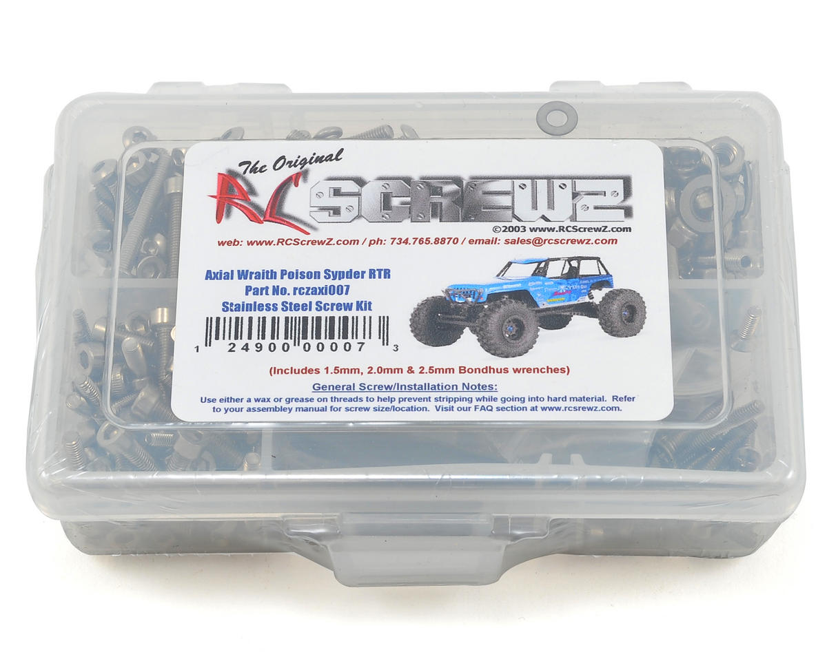 RC Screwz Axial Wraith Poison Spyder Stainless Steel Screw Kit