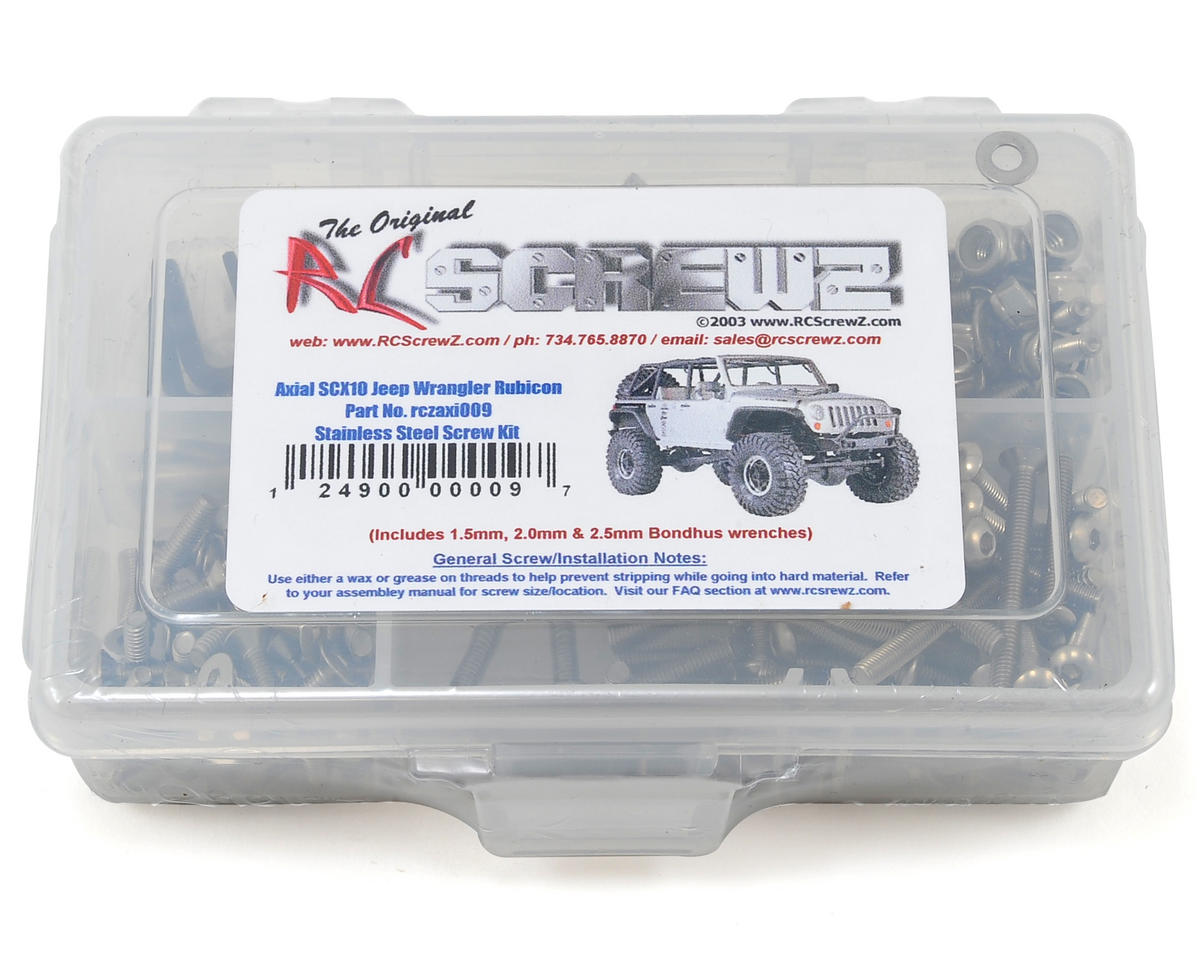 RC Screwz Axial SCX10 Jeep Wrangler Rubicon Stainless Steel Screw Kit