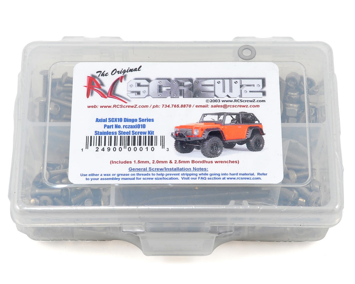 RC Screwz Axial SCX10 Dingo Stainless Steel Screw Kit