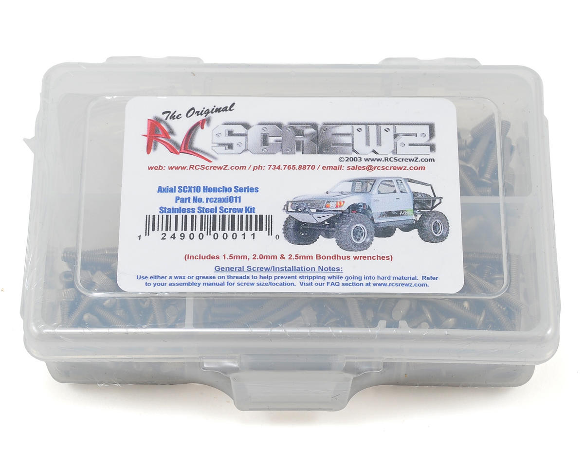 RC Screwz Axial SCX10 Honcho Stainless Steel Screw Kit