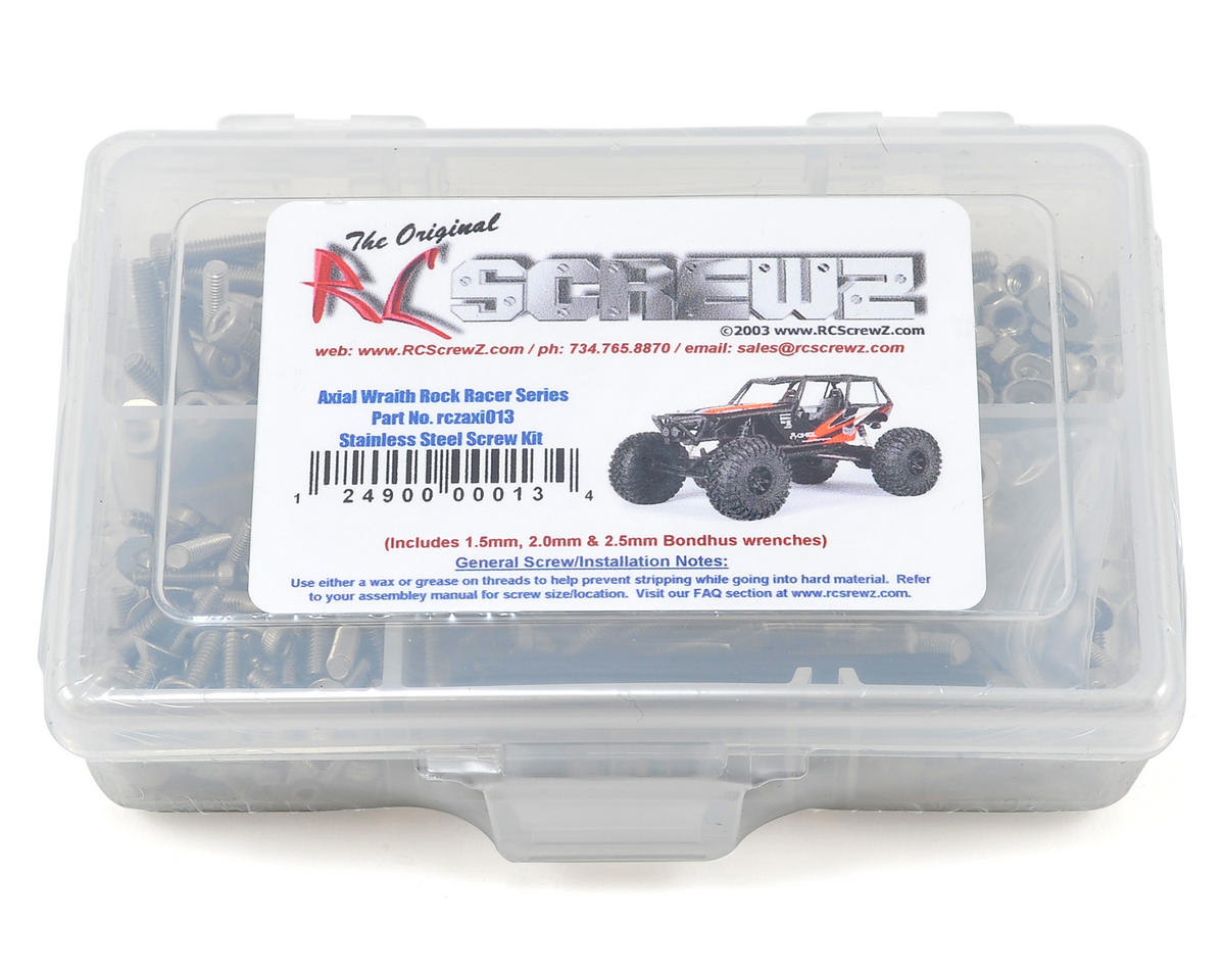 RC Screwz Axial Wraith Rock Racer Stainless Steel Screw Kit