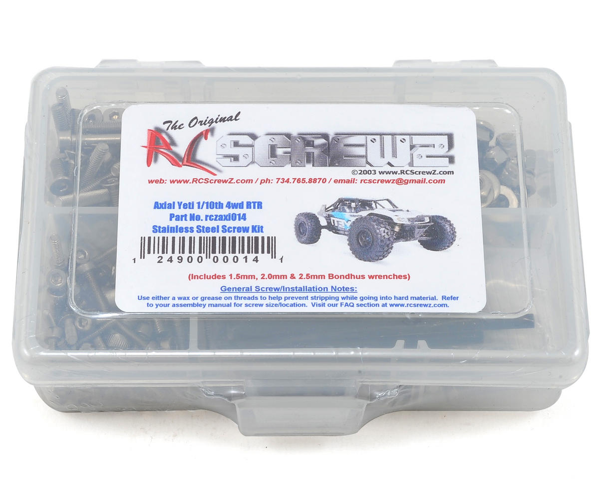 RC Screwz Axial Yeti 1/10th 4wd Stainless Steel Screw Kit