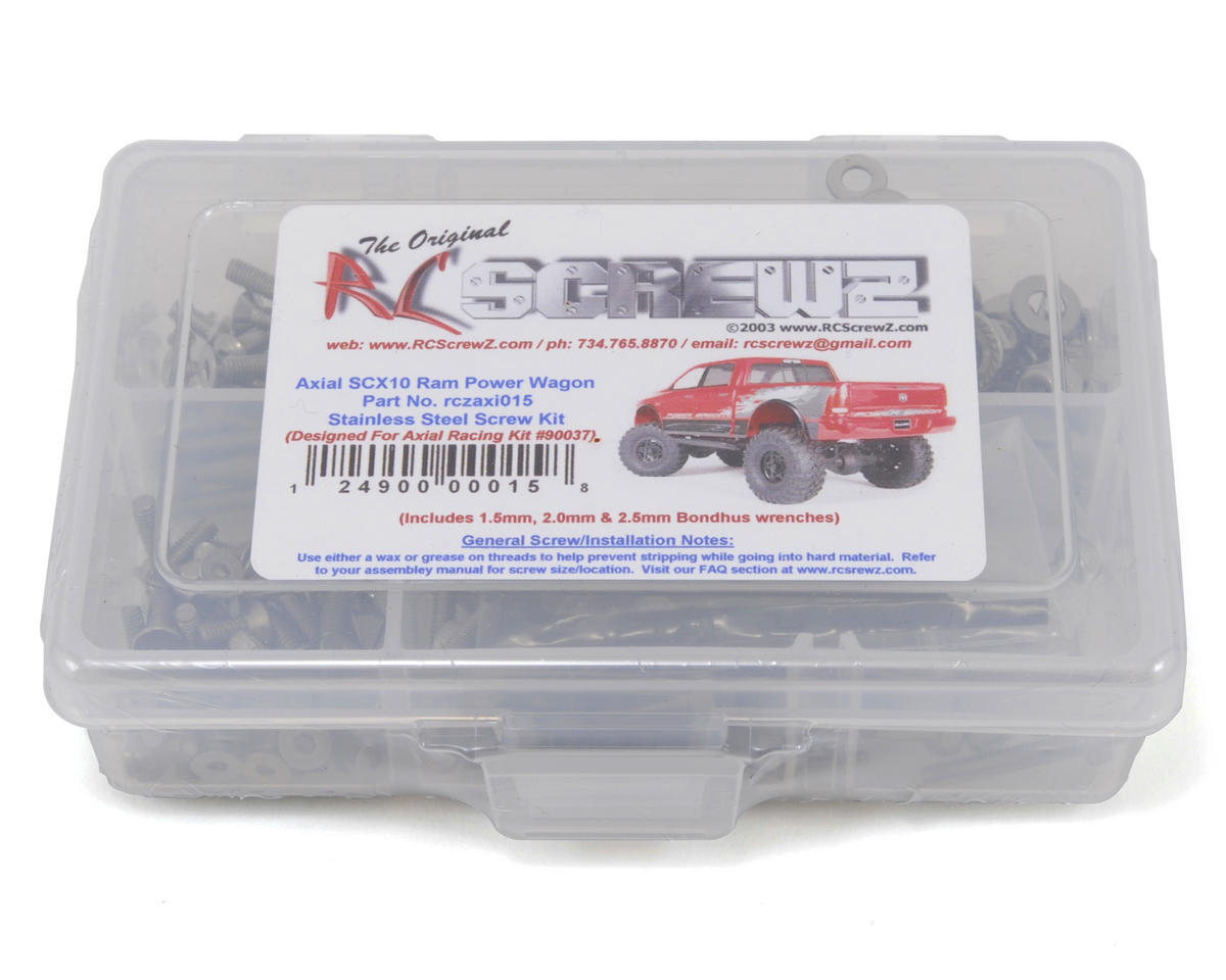 RC Screwz Axial SCX10 Ram Power Wagon Stainless Steel Screw Kit