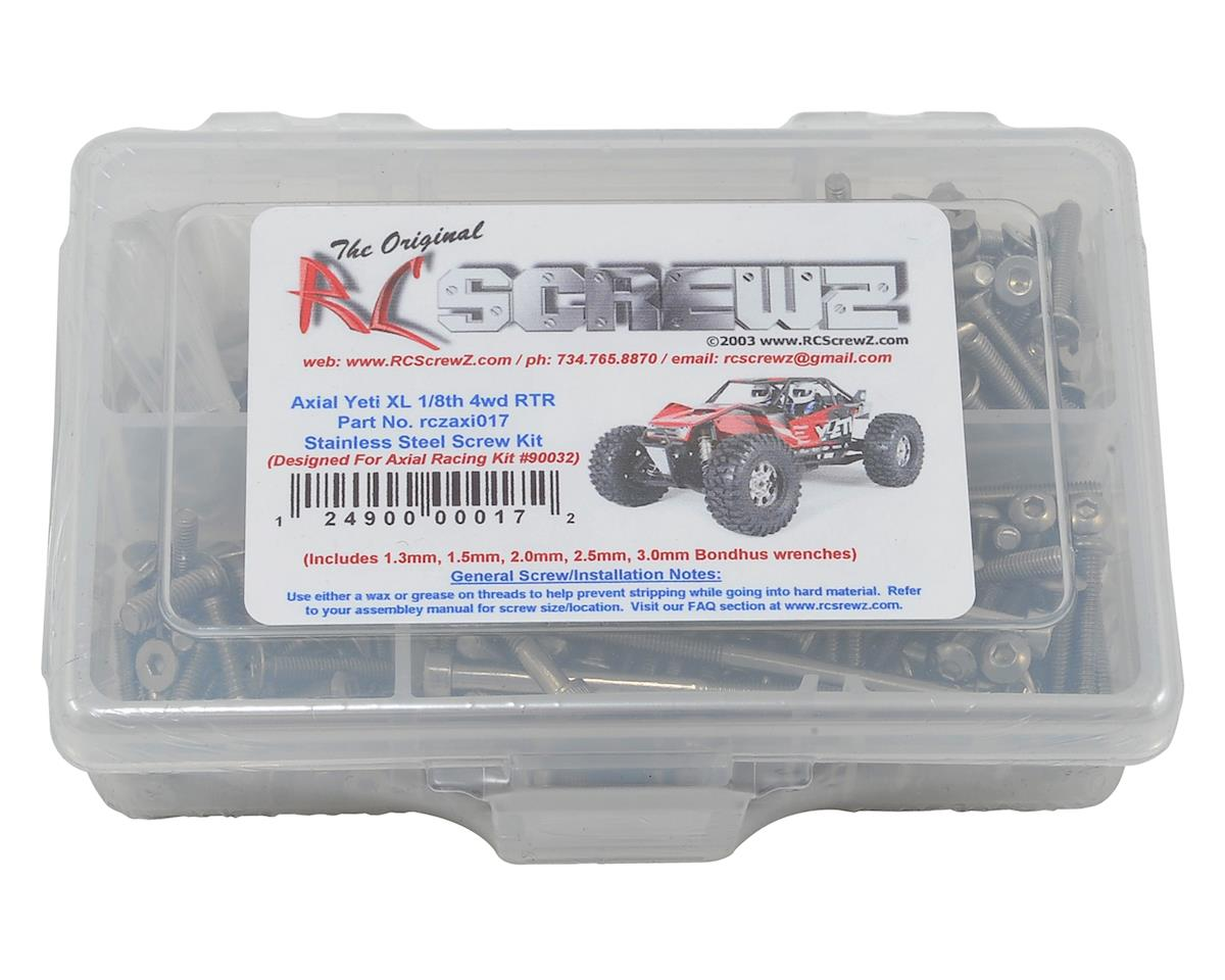 RC Screwz Axial Yeti XL 4WD Stainless Steel Screw Kit