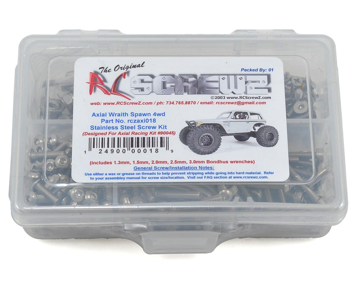 Axial Wraith Spawn Stainless Steel Screw Kit