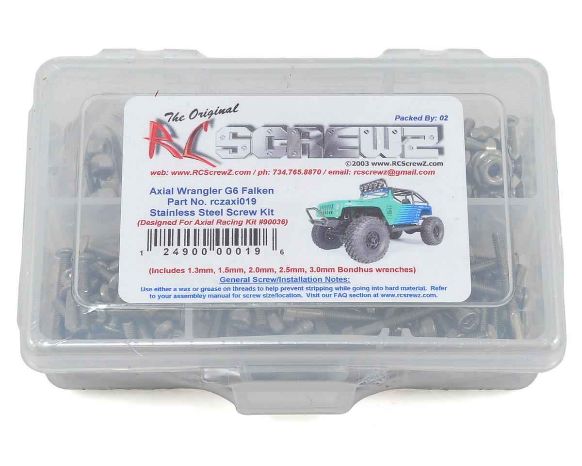 RC Screwz Axial Wrangler G6 Stainless Steel Screw Kit