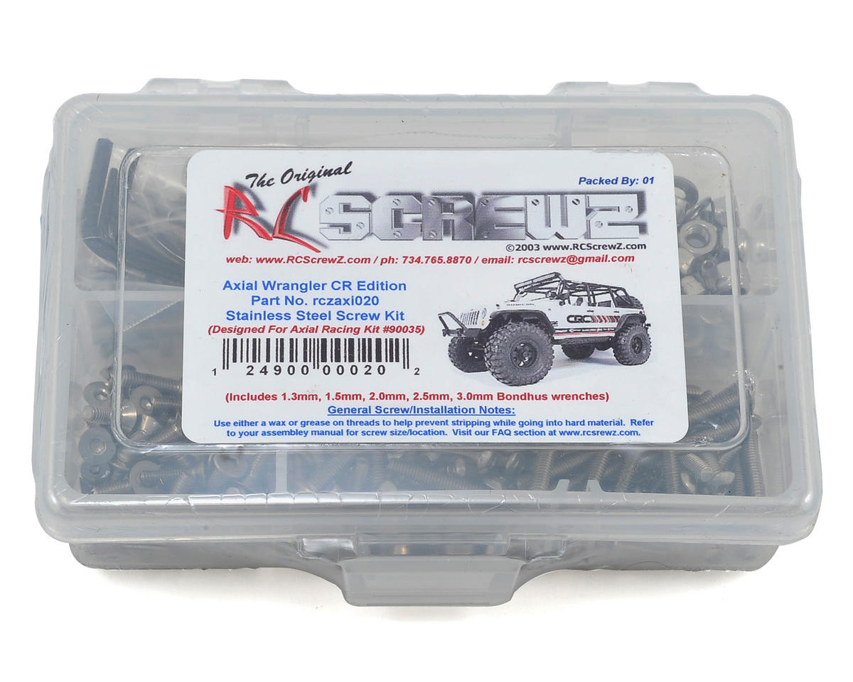 RC Screwz Axial Wrangler C/R Edition Stainless Steel Screw Kit