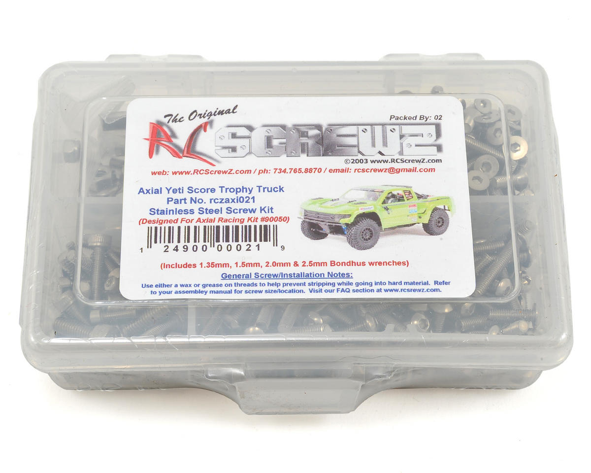 RC Screwz Axial Yeti Score Trophy Stainless Screw Kit