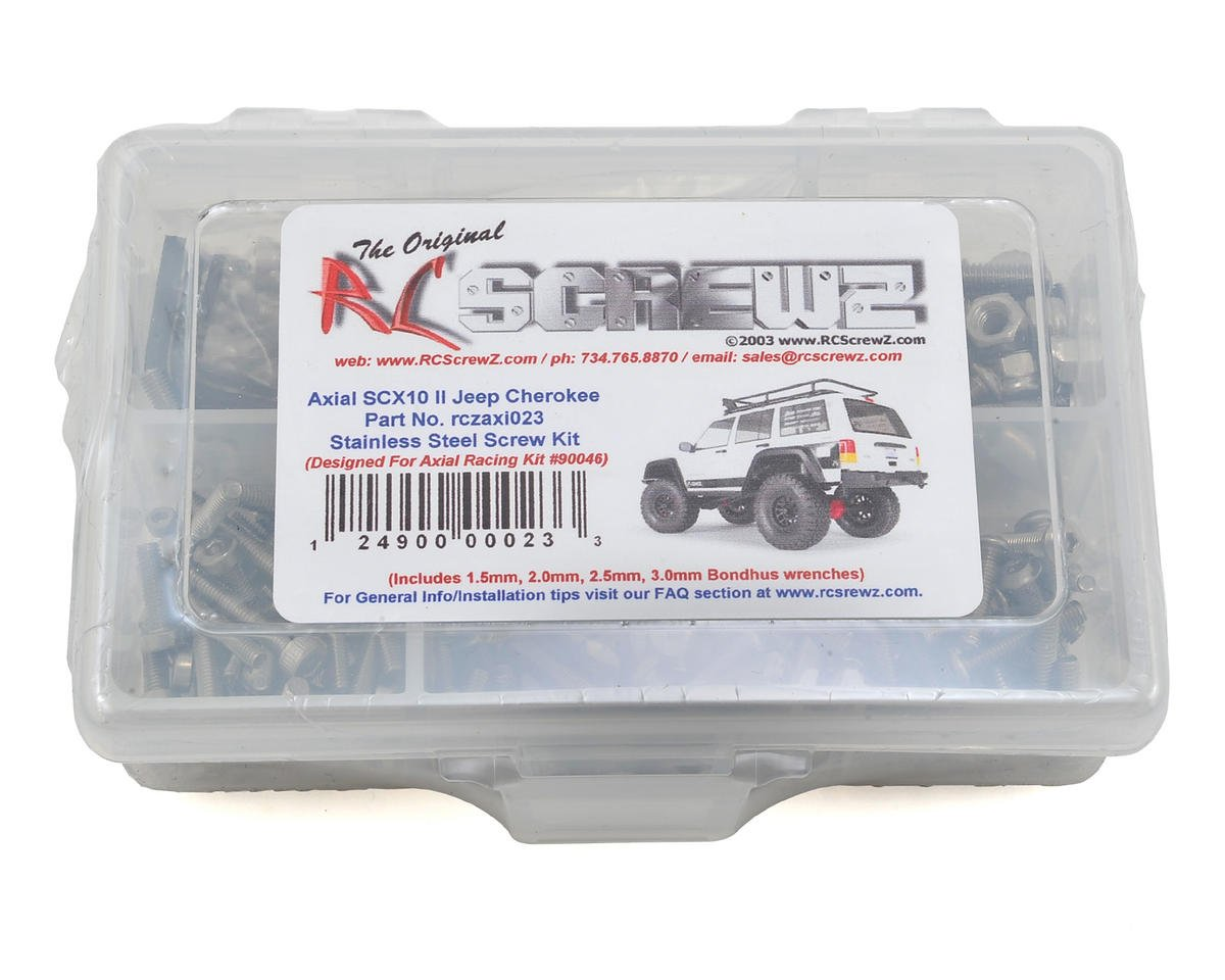 Axial SCX10 II Jeep Cherokee Stainless Screw Kit by RC Screwz