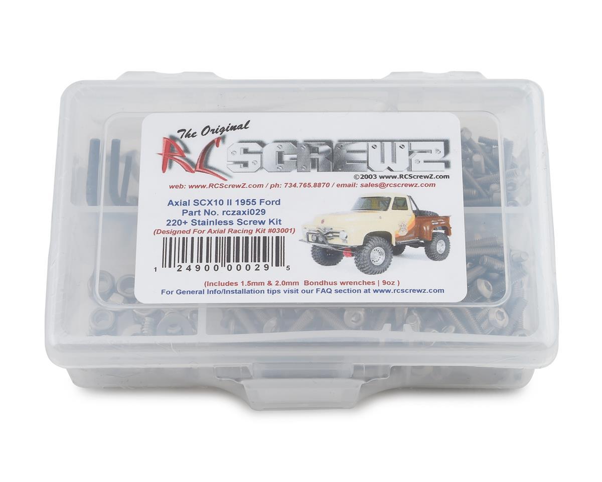 RCZAXI010 RC Screwz Axial SCX10 Dingo Stainless Steel Screw Kit