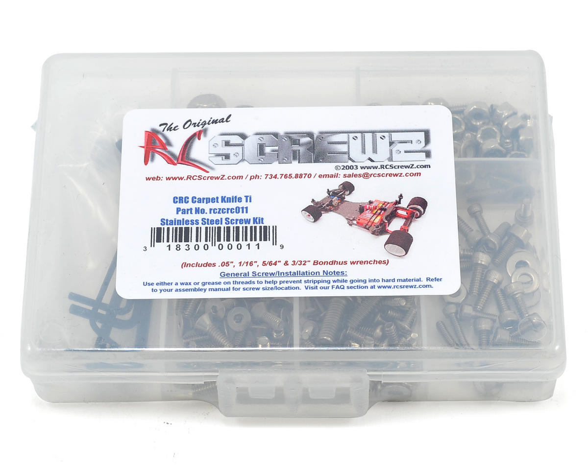 RC Screwz CRC Calandra Racing Concepts Xti Stainless Steel Screw Kit