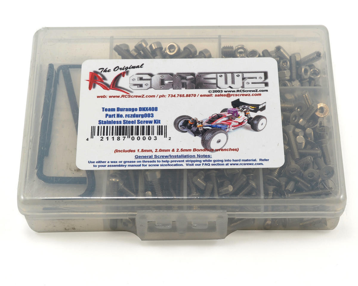 RC Screwz Team Durango DNX408 1/8 Buggy Stainless Steel Screw Kit