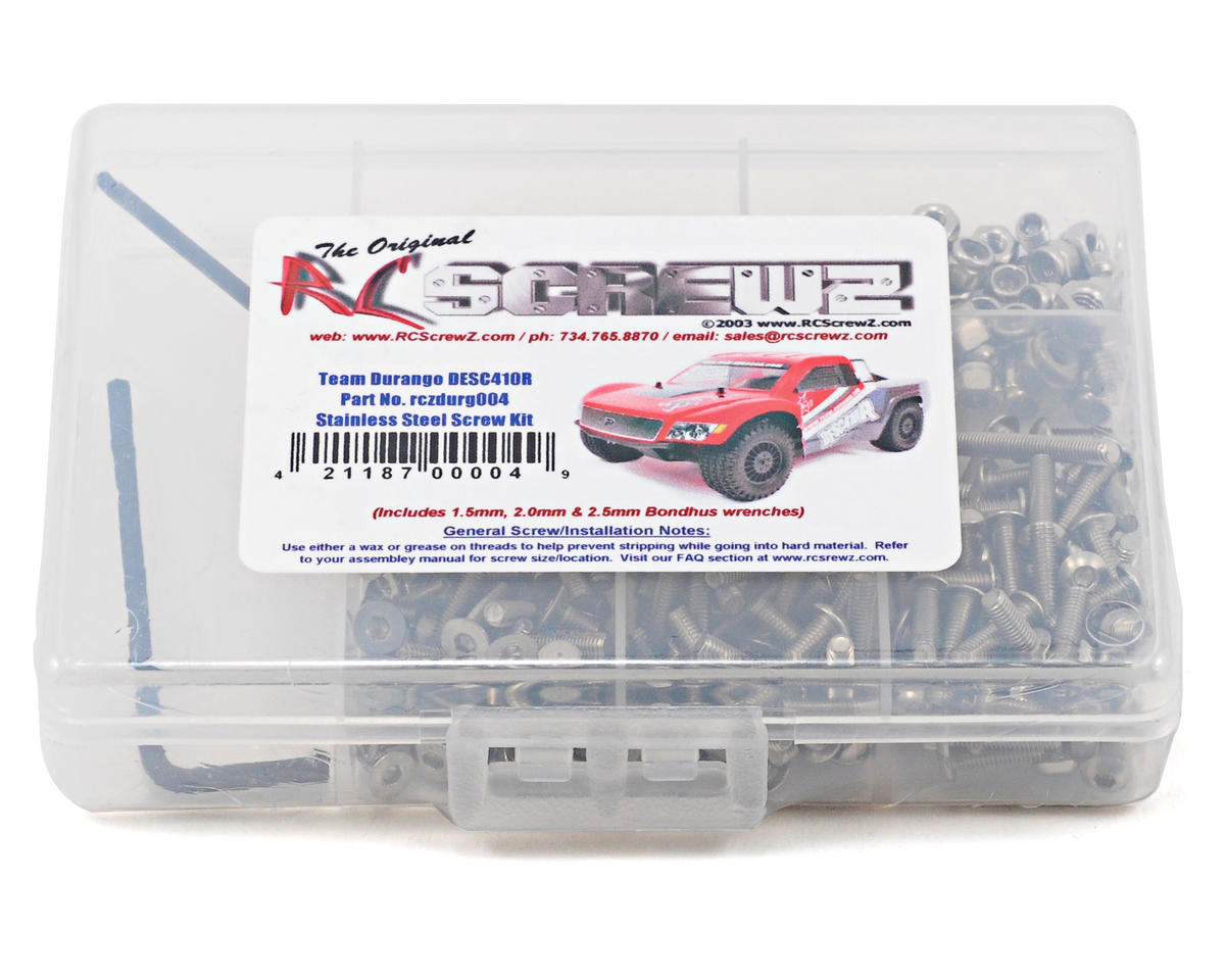RC Screwz Team Durango DESC410R/V2 Stainless Steel Screw Kit