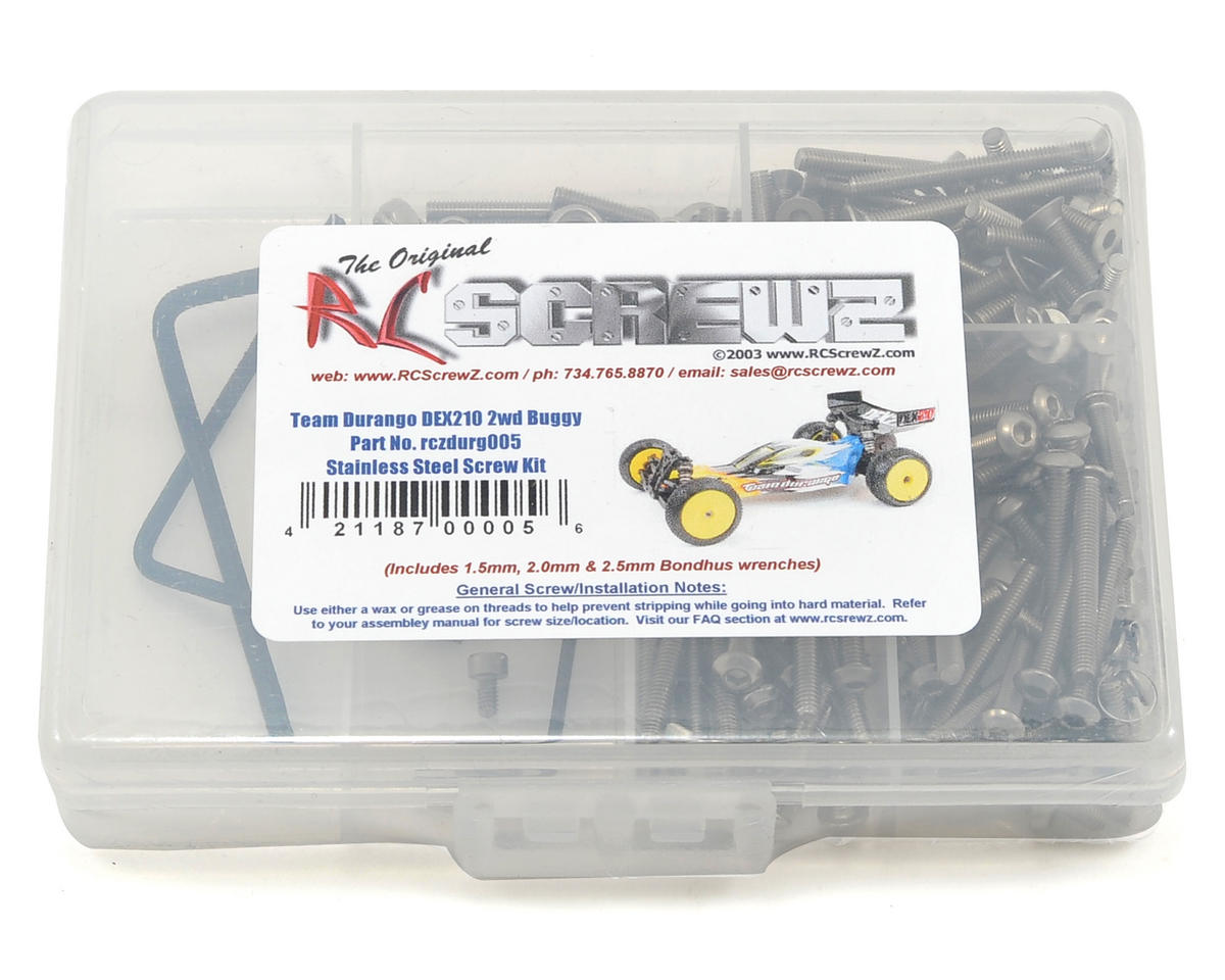 Team Durango DEX210 Stainless Steel Screw Kit by RC Screwz
