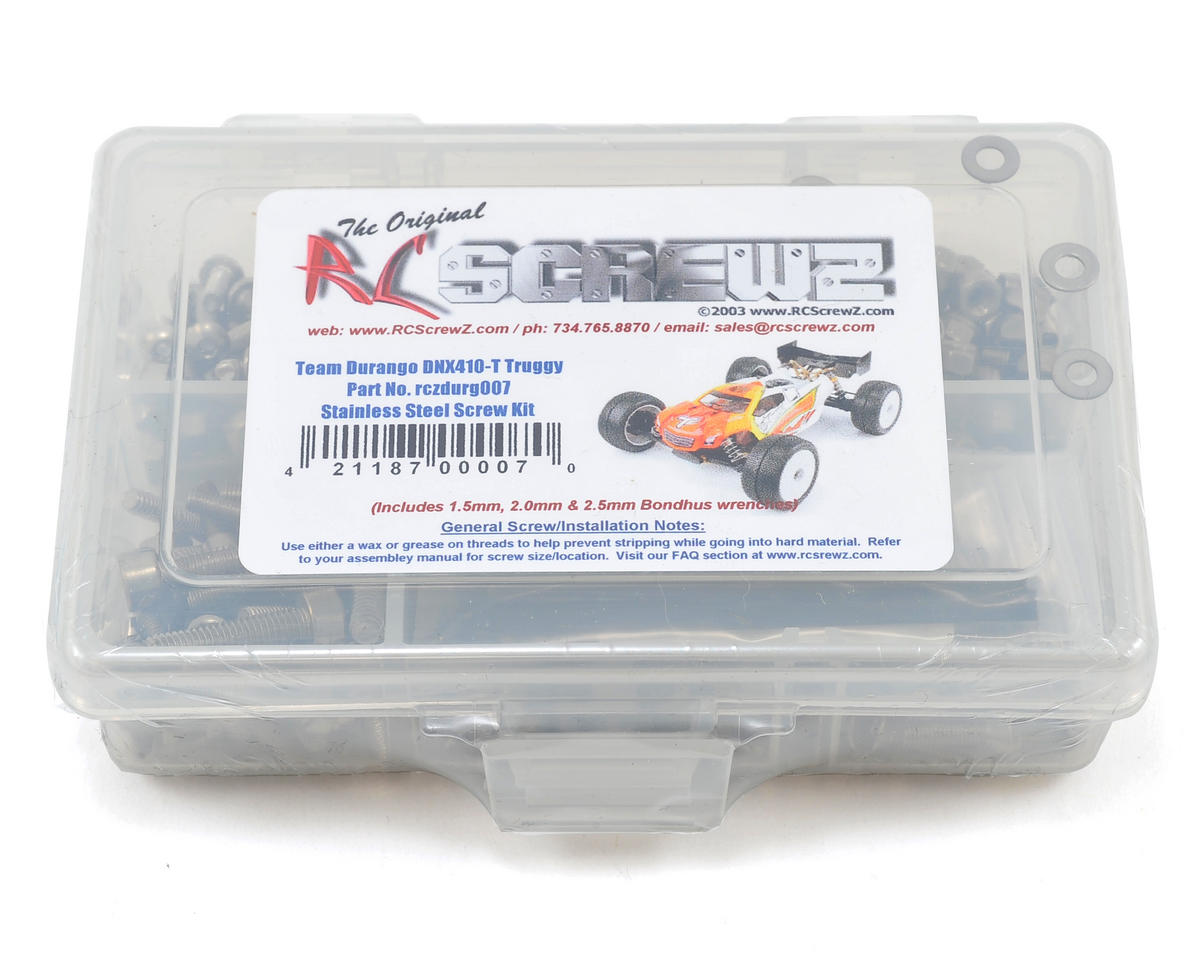 RC Screwz Durango DNX408T Stainless Steel Screw Kit