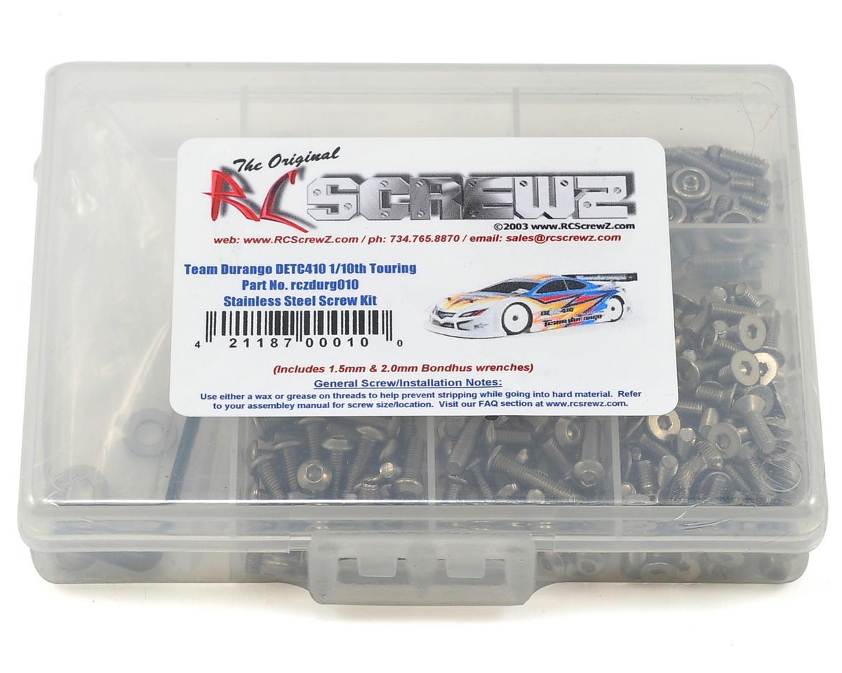 RC Screwz Team Durango DETC410 1/10th Touring Stainless Steel Screw Kit