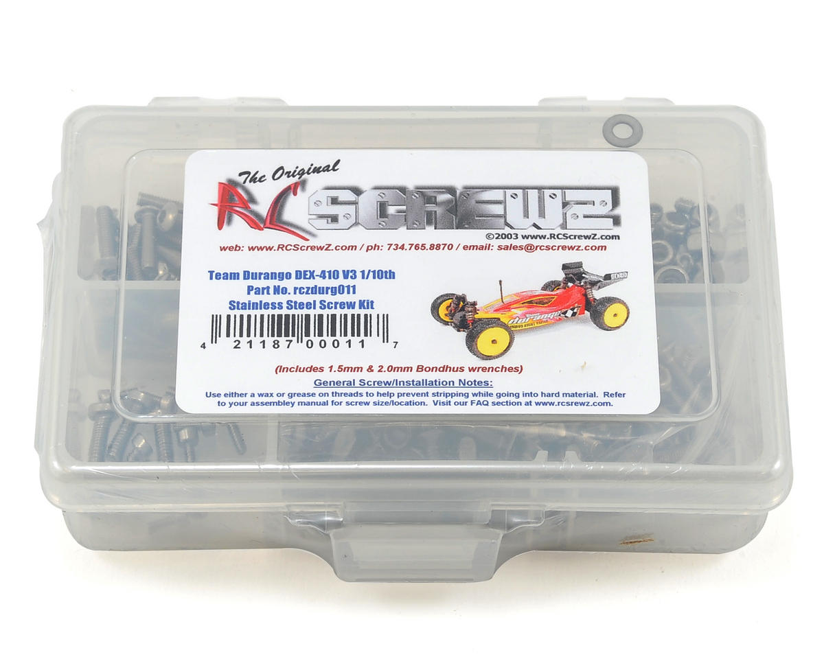 RC Screwz Team Durango DEX410 V3 Stainless Steel Screw Kit