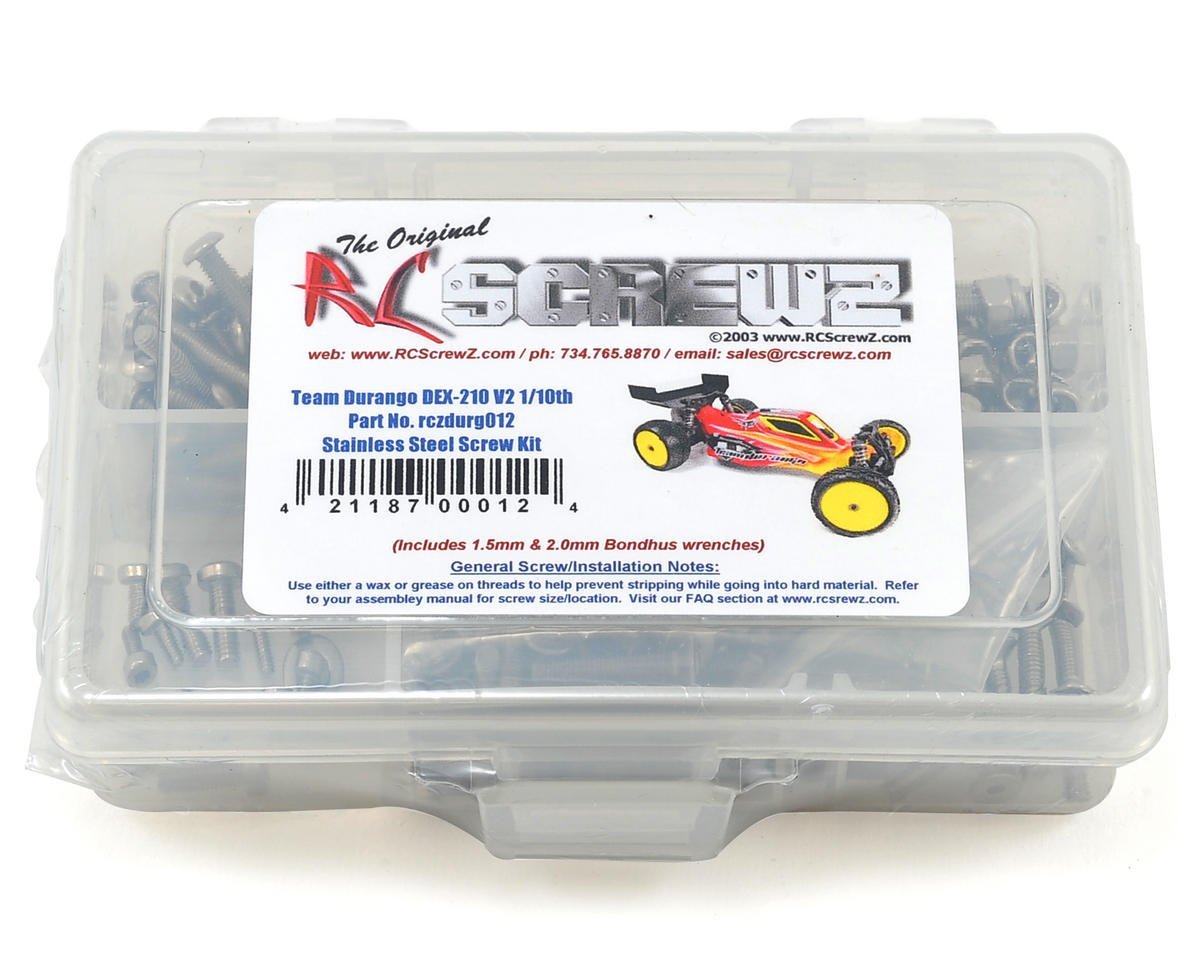 RC Screwz Team Durango DEX210 V2 Stainless Steel Screw Kit