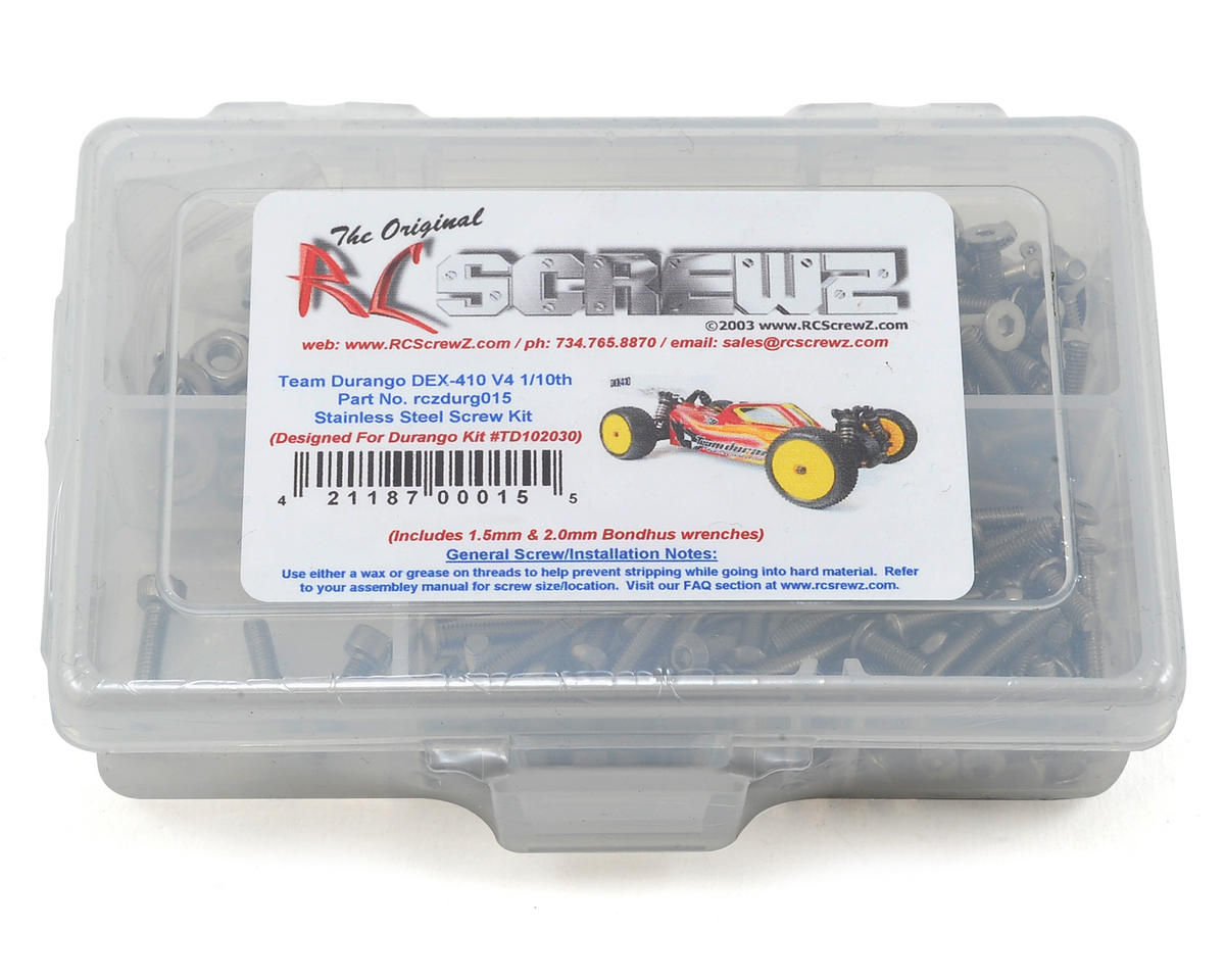 RC Screwz Durango DEX-410 Ver.4 Stainless Steel Screw Kit