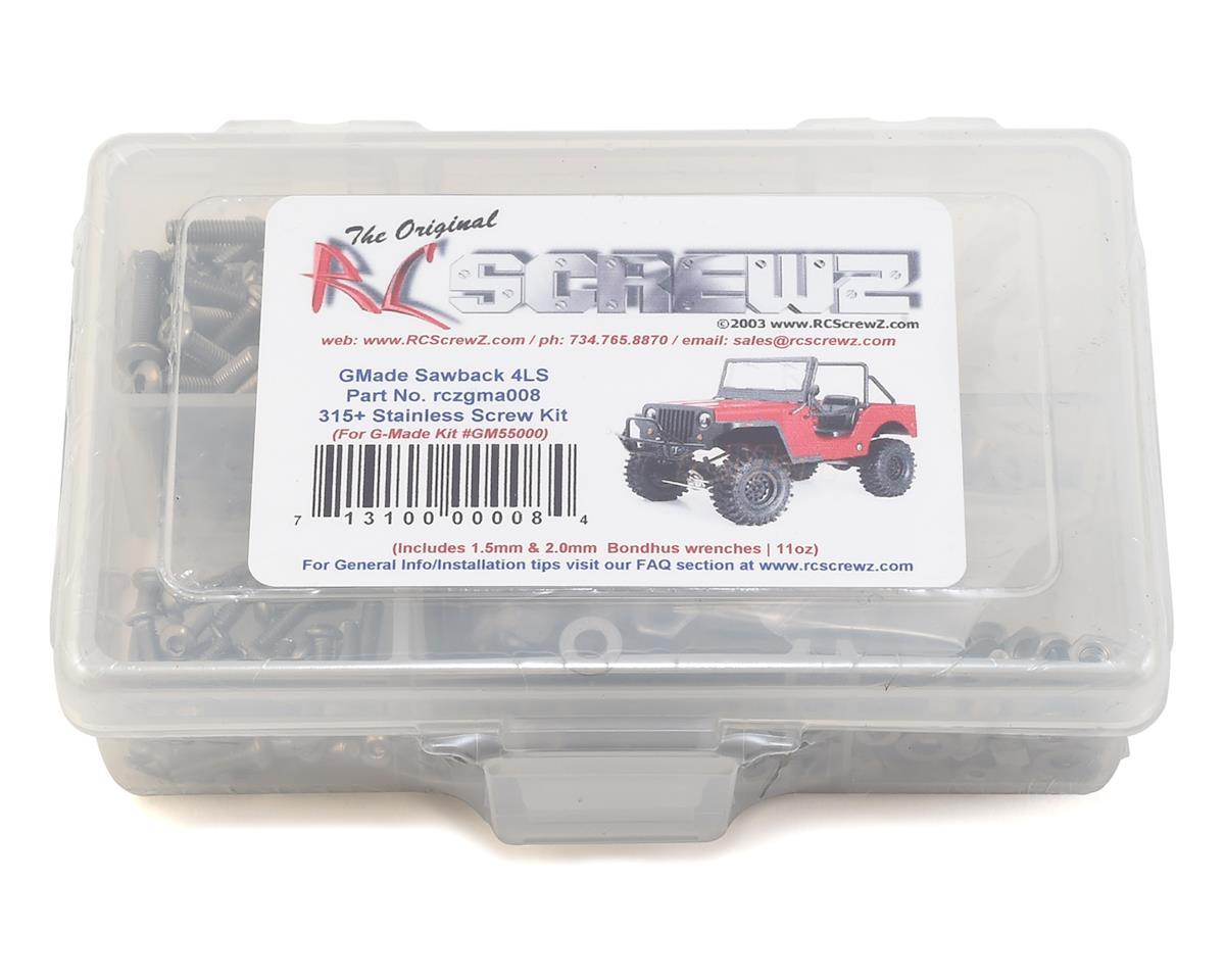 RC Screwz GMade Sawback 4LS Stainless Steel Screw Kit