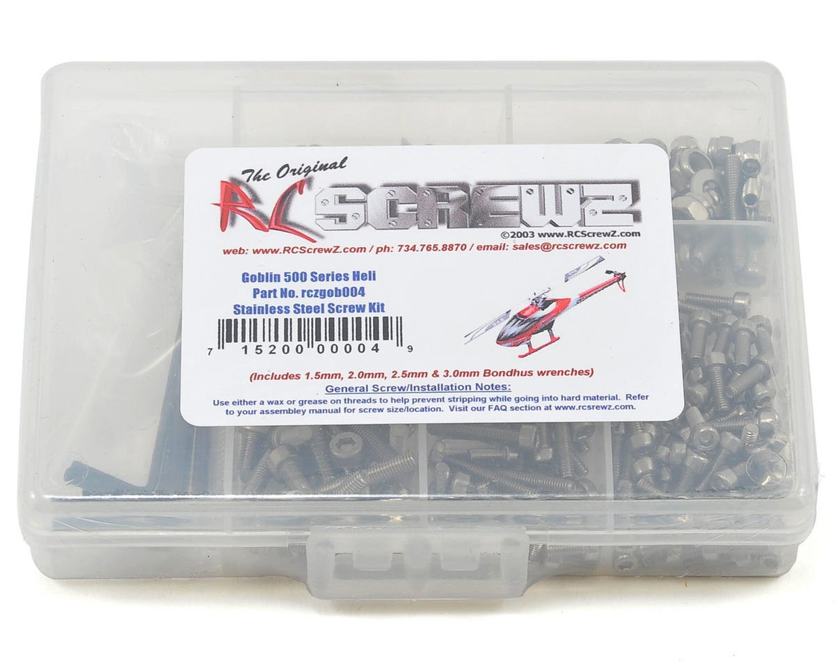 Goblin 500 Stainless Steel Screw Kit by RC Screwz