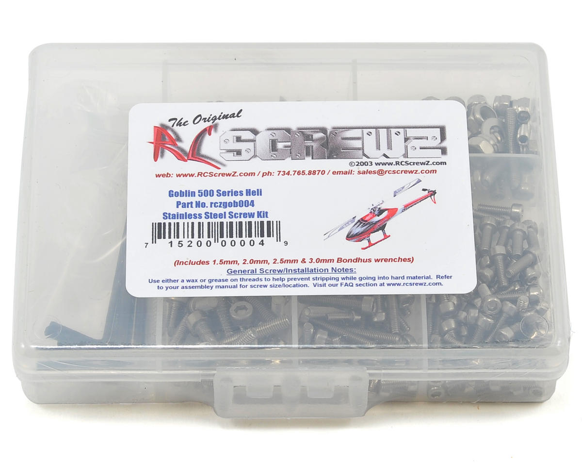 RC Screwz Goblin 500 Stainless Steel Screw Kit
