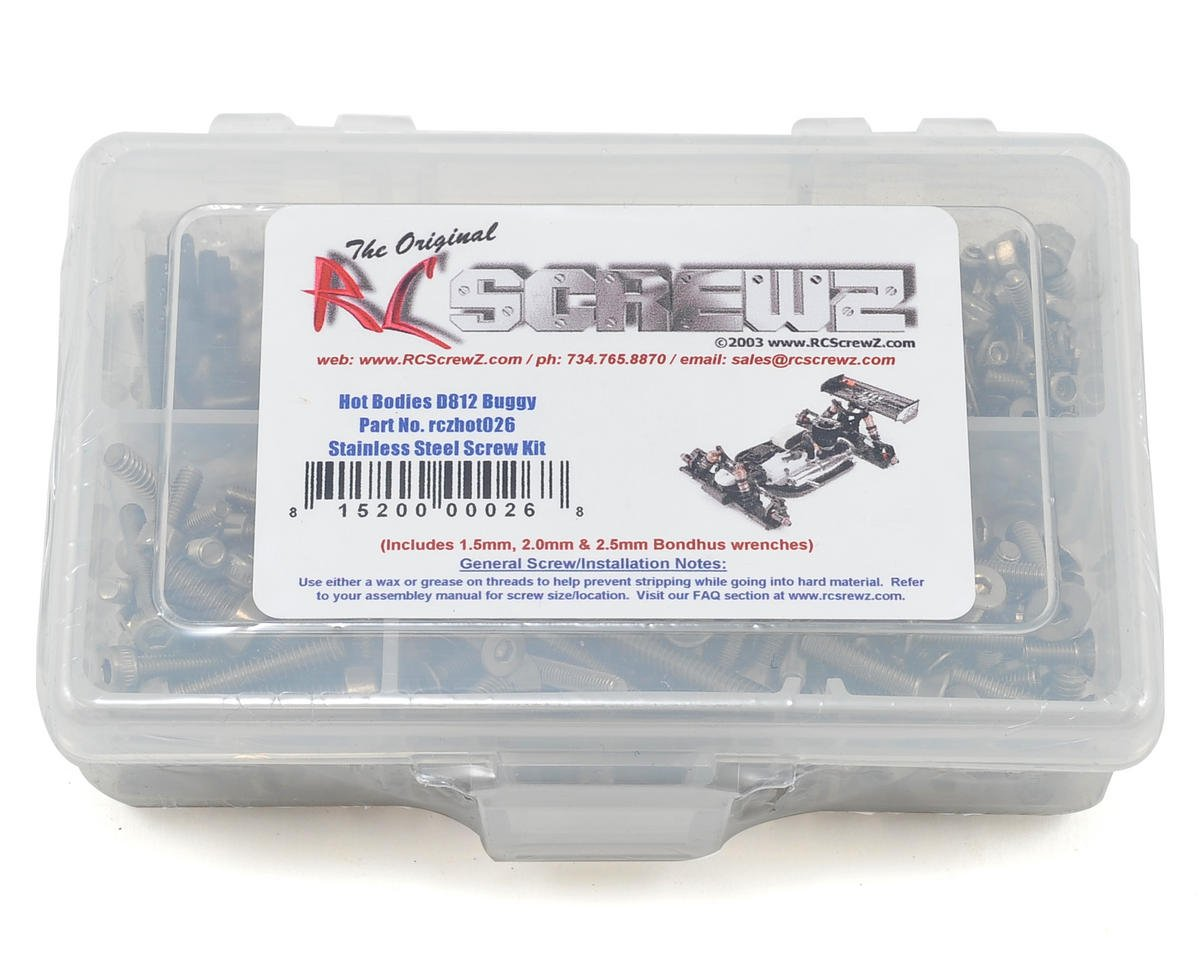 Hot Bodies D812 Stainless Steel Screw Kit by RC Screwz