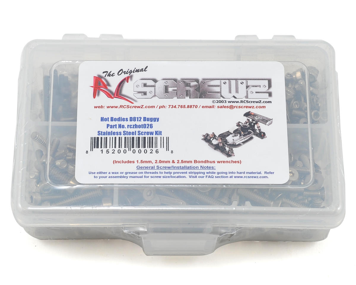 RC Screwz Hot Bodies D812 Stainless Steel Screw Kit