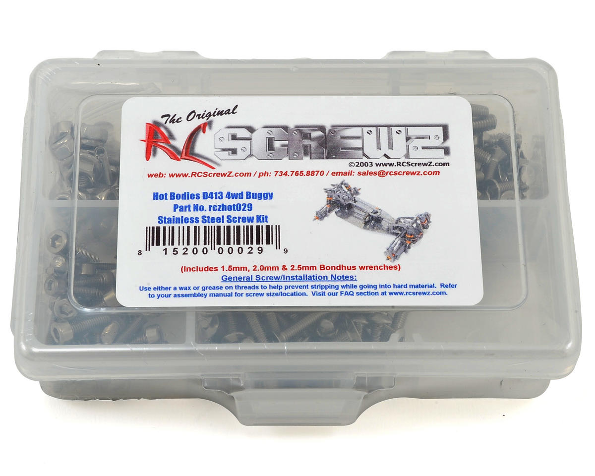 RC Screwz Hot Bodies D413 4WD Buggy Stainless Steel Screw Kit