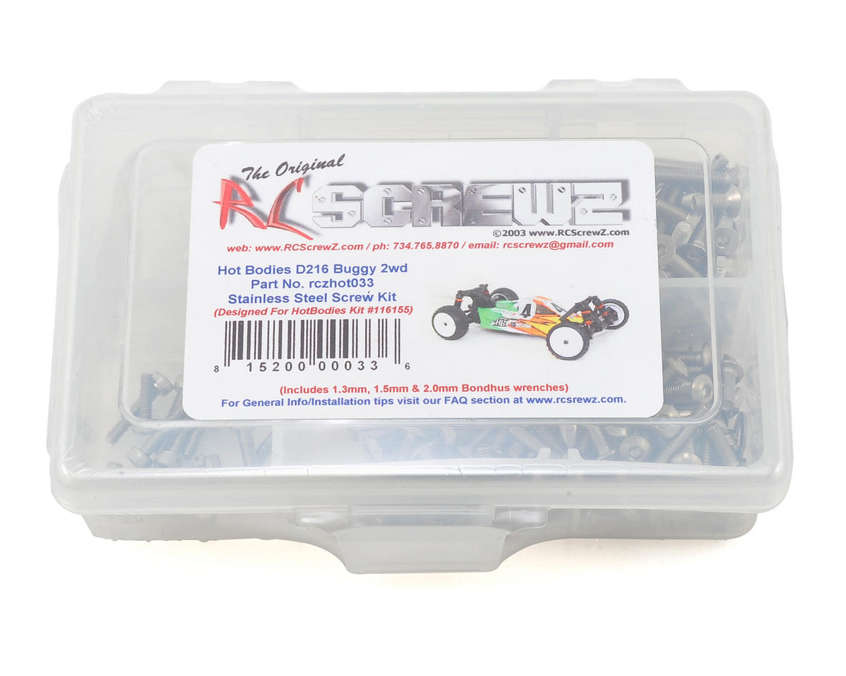 RC Screwz Hot Bodies D216 Stainless Steel Screw Kit