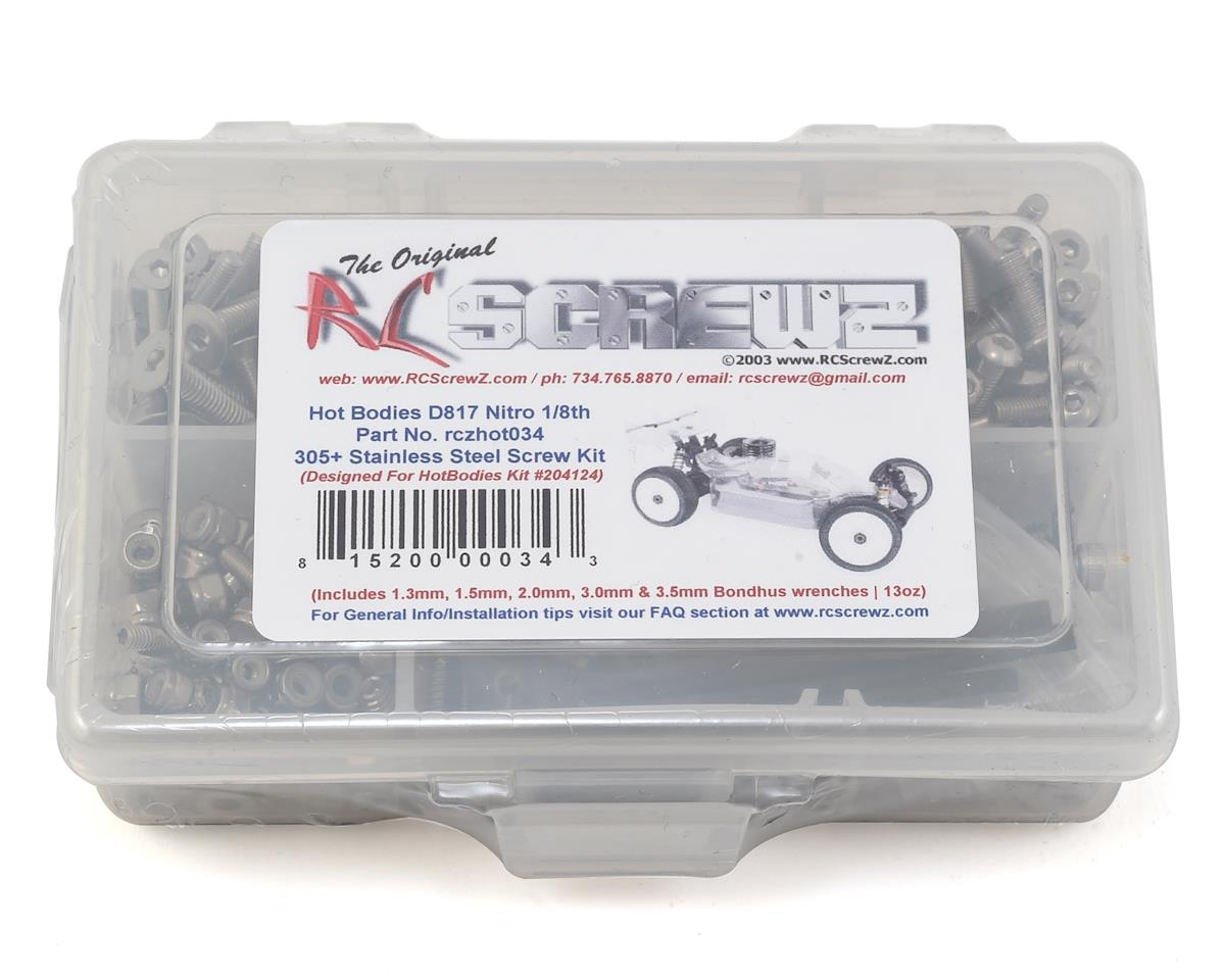RC Screwz HB Racing D817 Nitro Stainless Steel Screw Kit