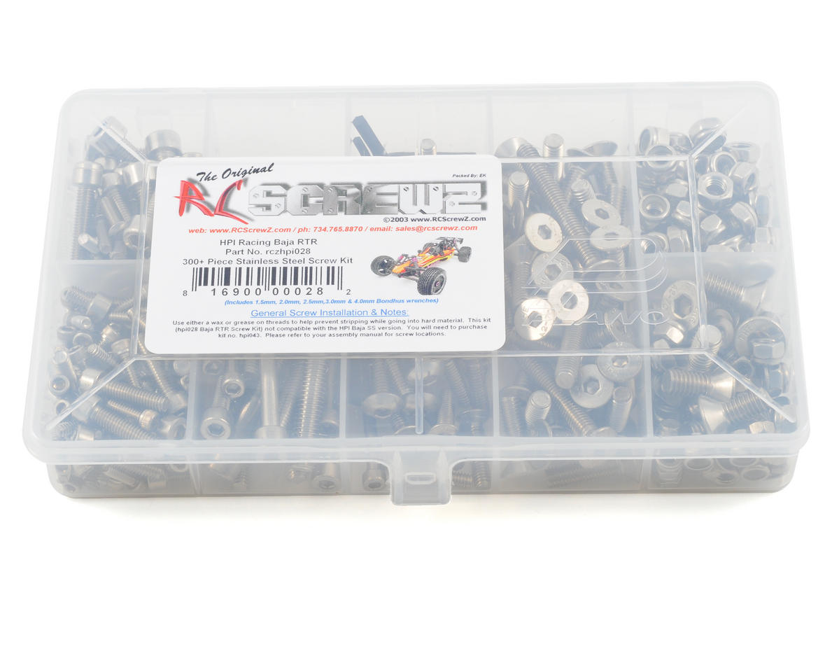 RC Screwz HPI 1/5 Baja RTR Stainless Steel Screw Kit (HPI Racing 5B)