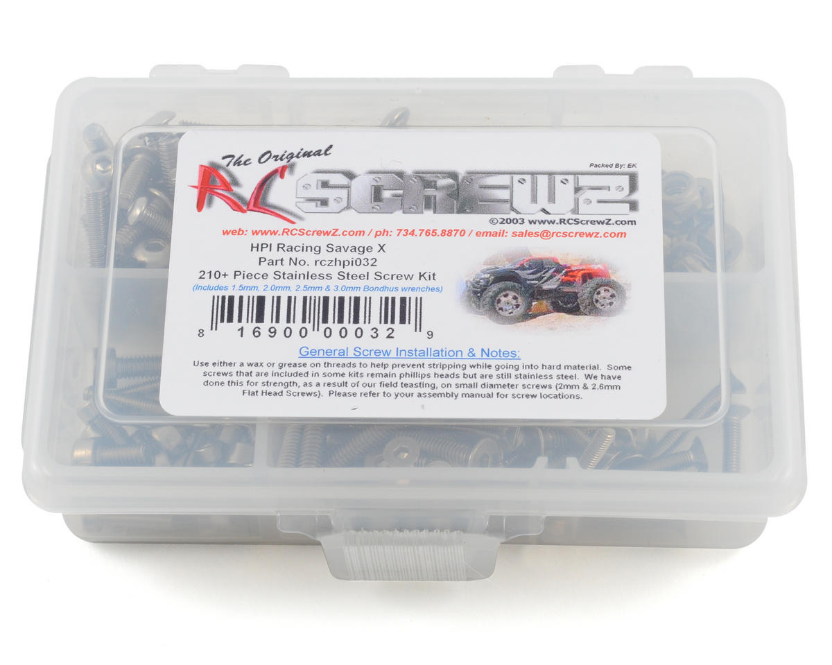 RC Screwz HPI Savage X Stainless Steel Screw Kit