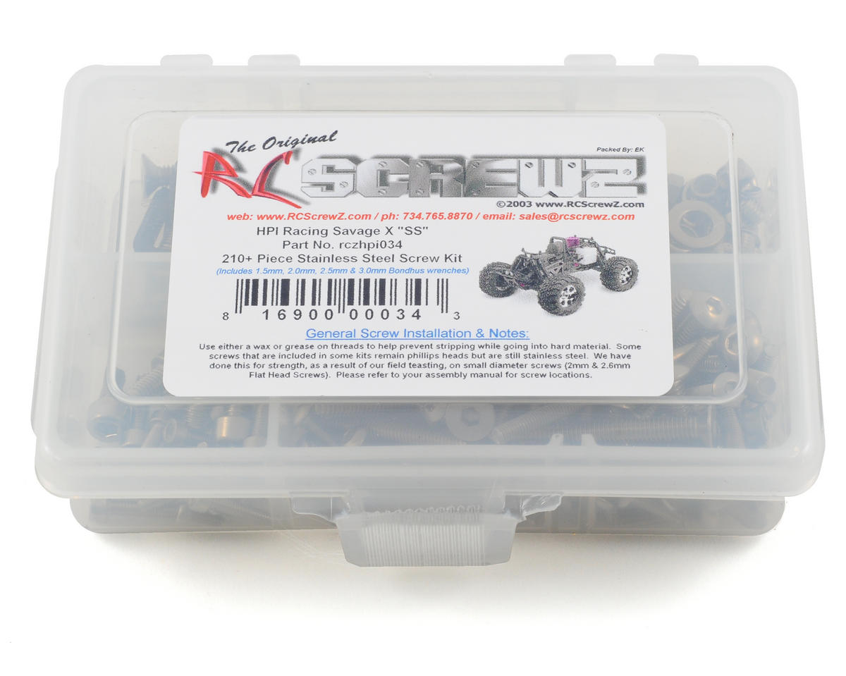 RC Screwz HPI Savage X SS Stainless Steel Screw Kit