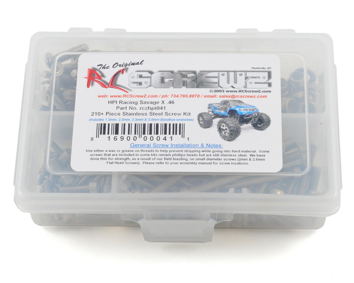 RC Screwz HPI Racing Savage X .46 Stainless Steel Screw Kit