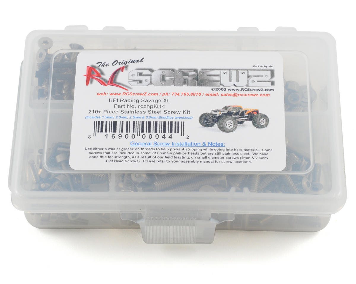 RC Screwz HPI Savage XL Stainless Steel Screw Kit