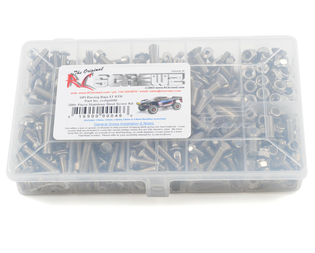 RC Screwz HPI Racing Baja 5T RTR Stainless Steel Screw Kit