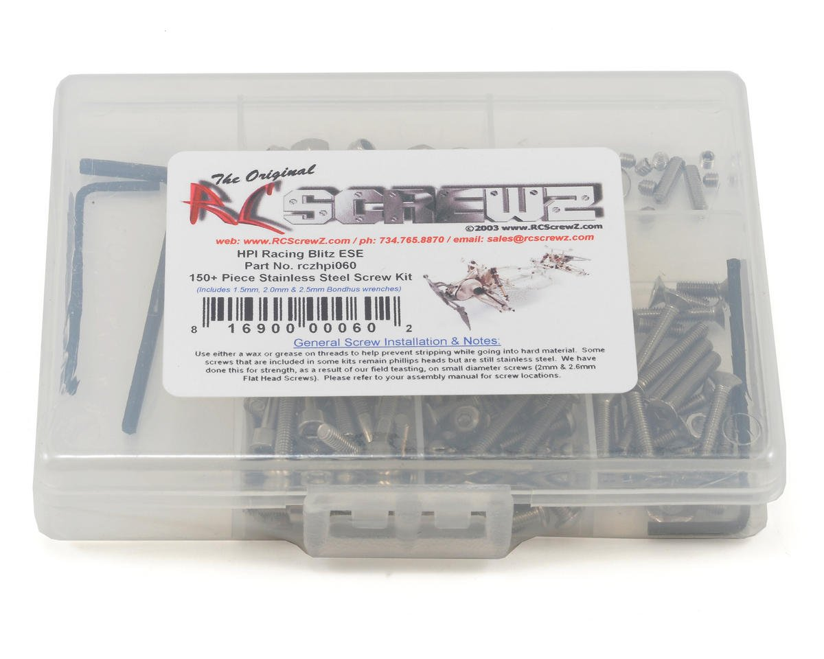 RC Screwz HPI Blitz ESE Stainless Steel Screw Kit