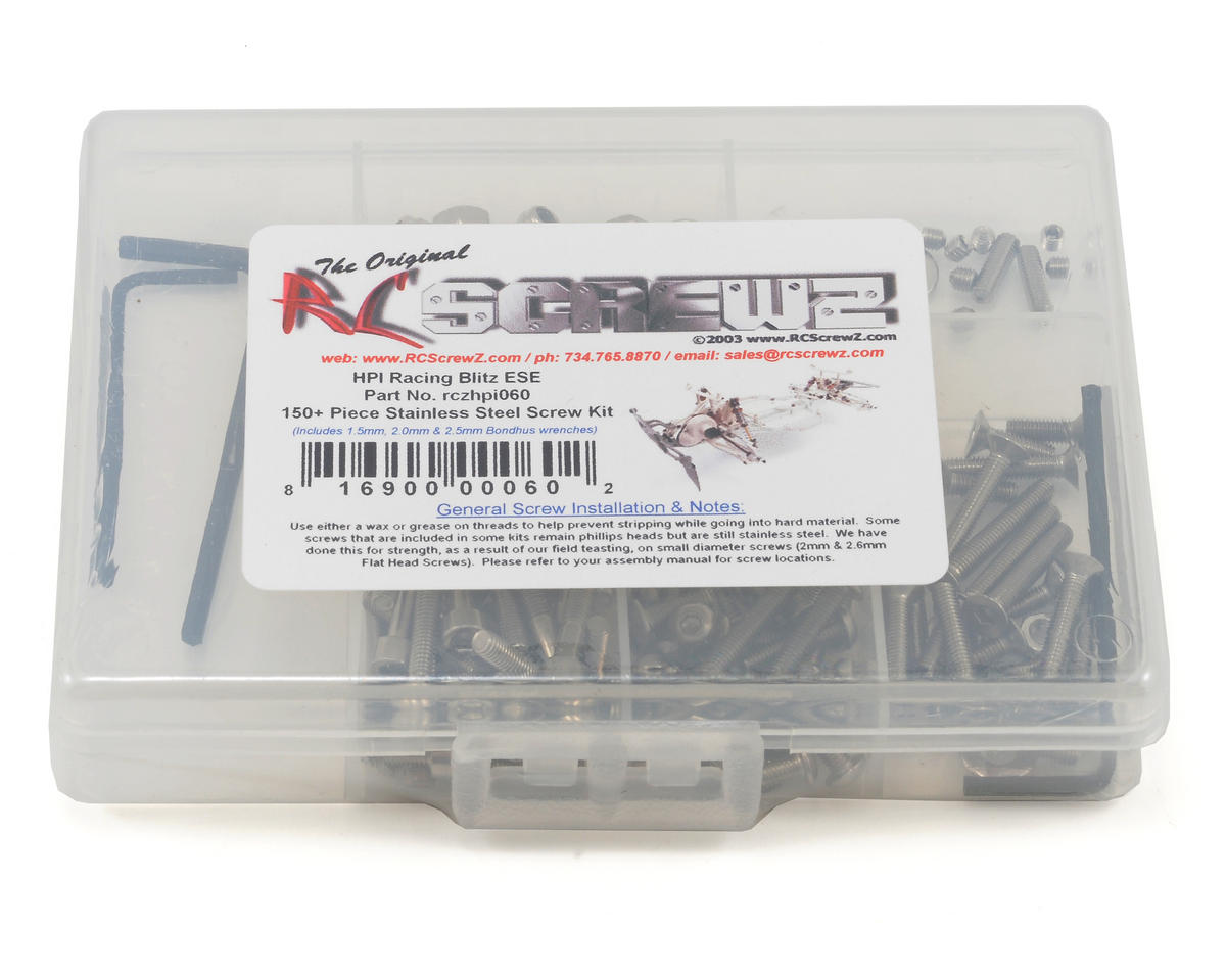 HPI Blitz ESE Stainless Steel Screw Kit by RC Screwz