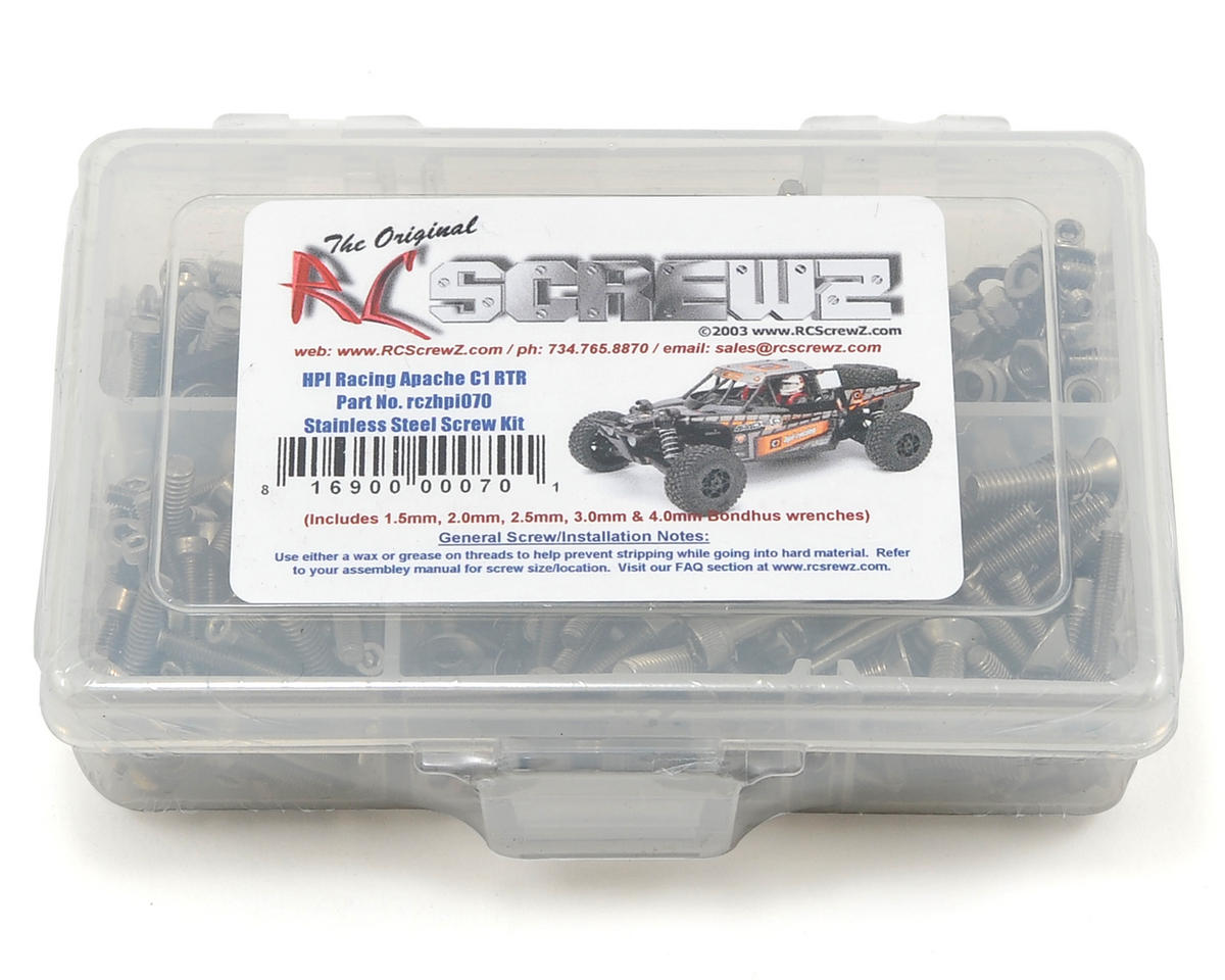 RC Screwz HPI Racing Apache C1 Stainless Steel Screw Kit