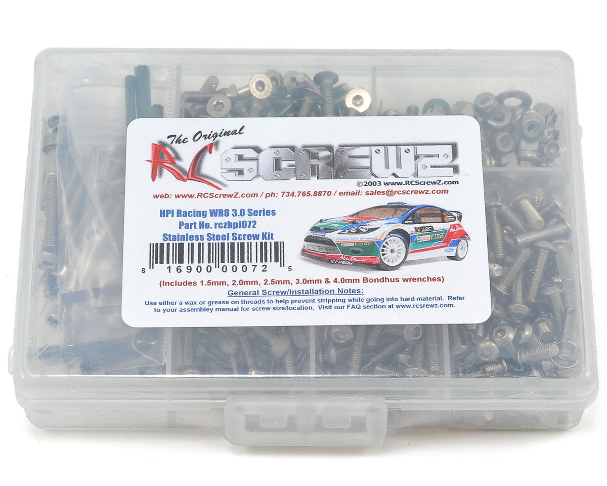 RC Screwz HPI WR8 Racing 3.0 Stainless Steel Screw Kit