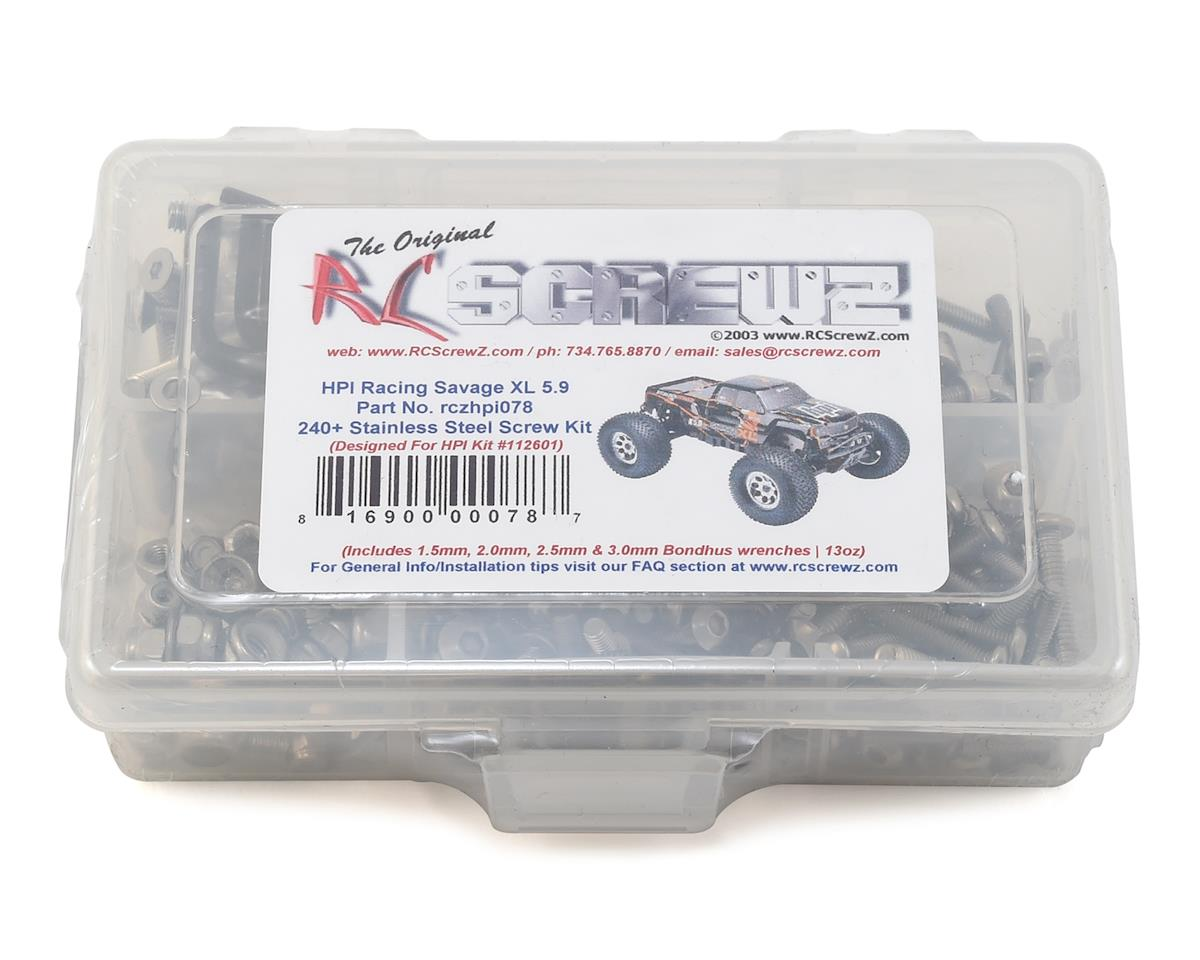 RC Screwz HPI Racing Savage XL 5.9 Stainless Steel Screw Kit