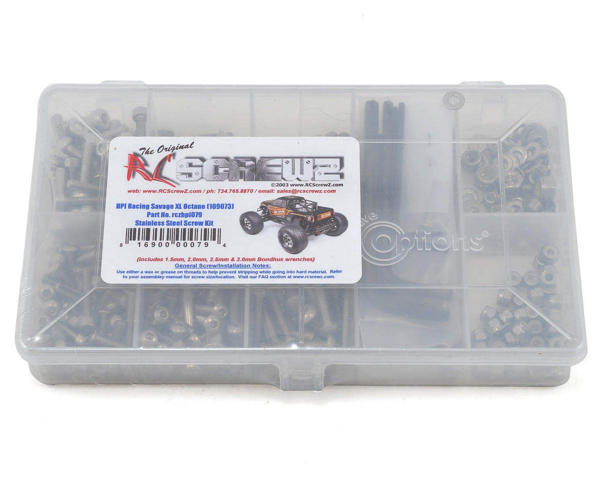 RC Screwz HPI Racing Savage XL Octane Stainless Steel Screw Kit